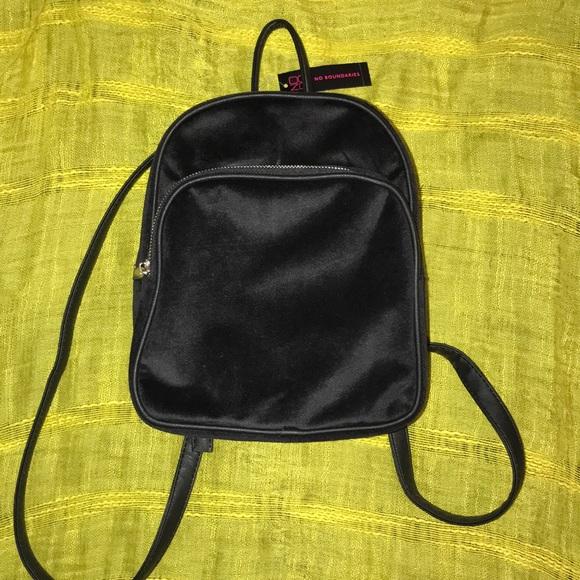 19ac6d54ae49 Black Velvet Mini Backpack